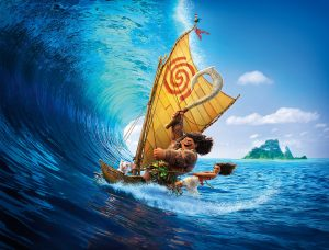 Moana Surfing on a boat