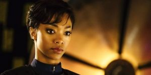 Sonequa Martin Green as Michael Burnham in Star Trek Discovery