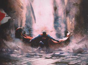 Superman landing