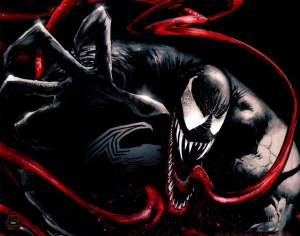 Venom has a long tongue