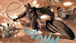 Vroooomm Catwoman on a bike