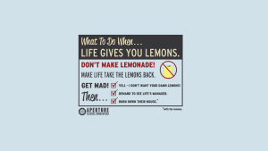 What to do when life give you lemons