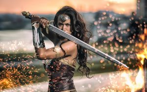Wonder Woman Sparks Cosplay