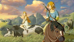 Zelda and Link on mounts