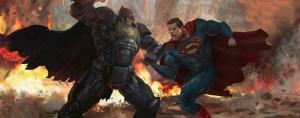 batman vs superman artwork w1