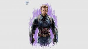 captain america in avengers infinity war 2018 artwork 4h