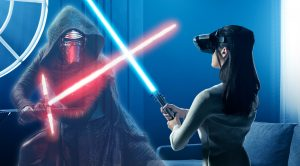 kylo ren and rey in star wars the last jedi vr experience go