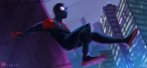 spiderman into the spider verse 2018 fan art kf