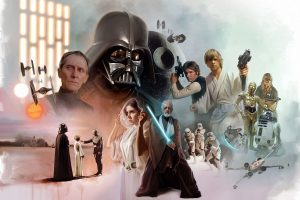 star wars scifi artwork on