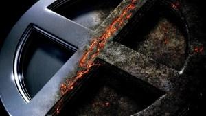 x-men logo is all burnt up