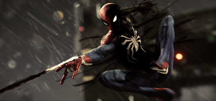 Spider-man blacking out