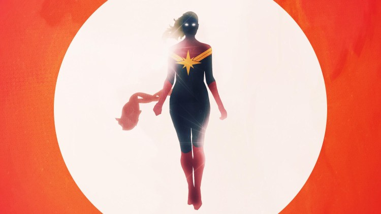 captain marvel in the sky