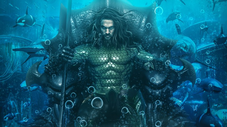 Aquaman on a throne