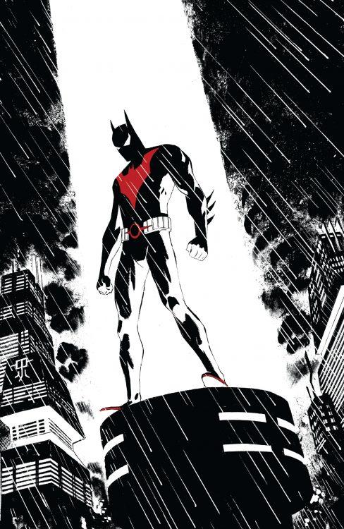 Batman Beyond on a light