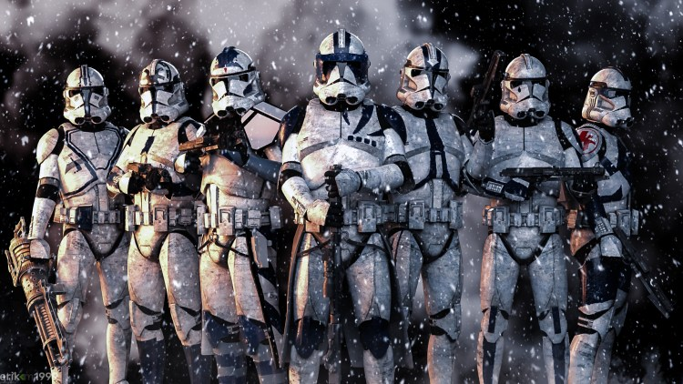Clone Troopers in the snow