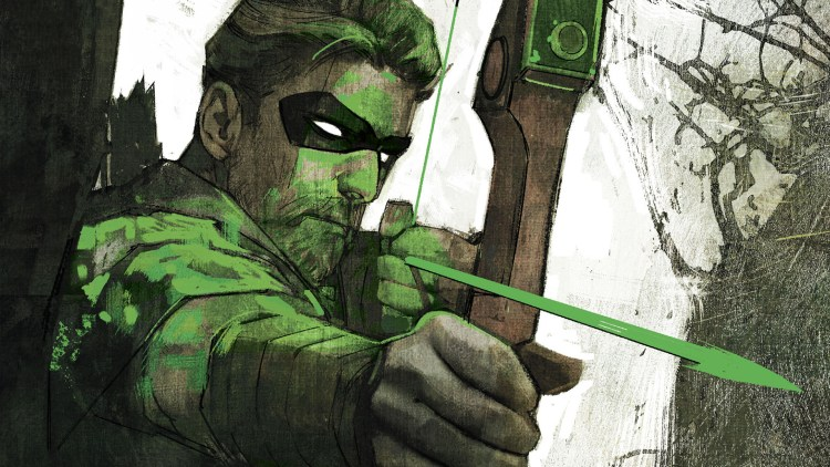 Green Arrow taking aim