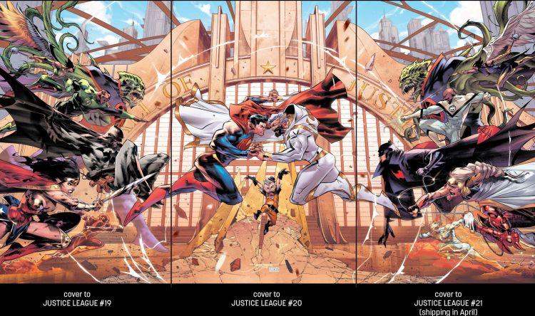 Justice League 19-21 interlocking covers