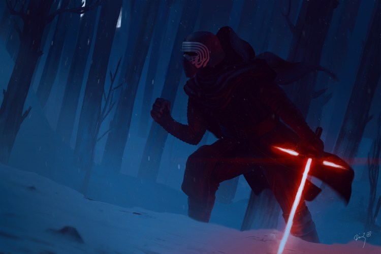 Kylo in the forest