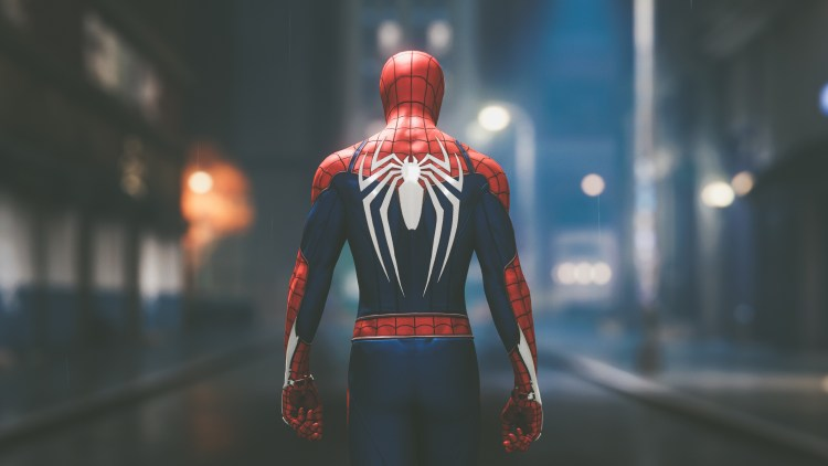 PS4 Spider-man's back