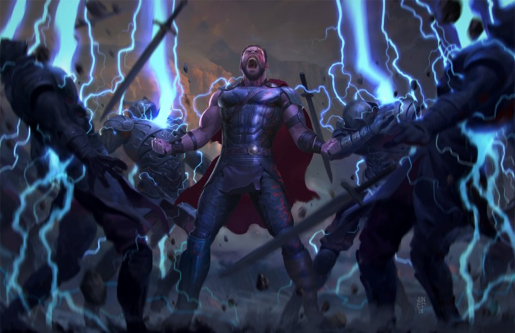 Thor electrifying his new friends