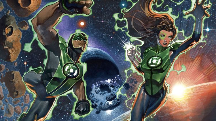 Two Green Lanterns In Space