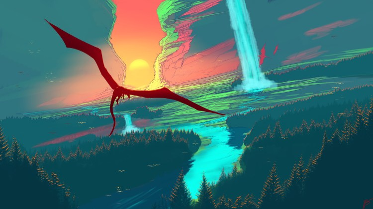 dragon over skyfall