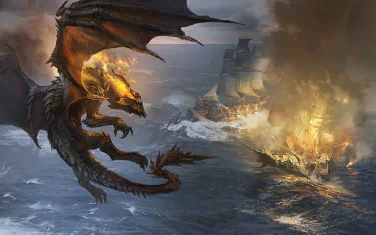 dragon pirate attack
