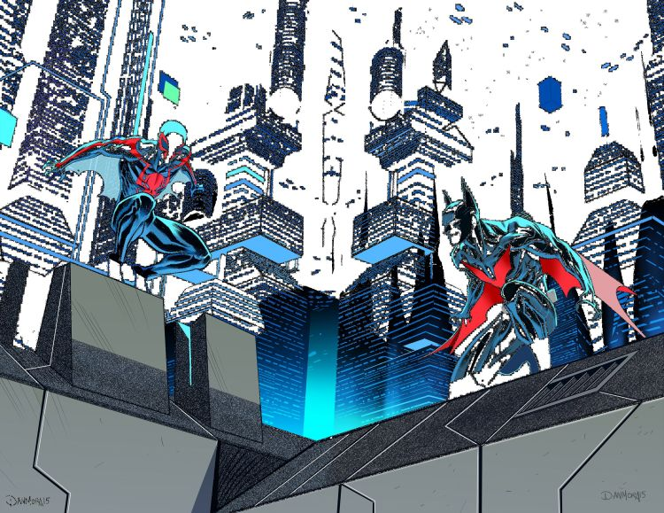 spider-man 2099 meets batman beyond