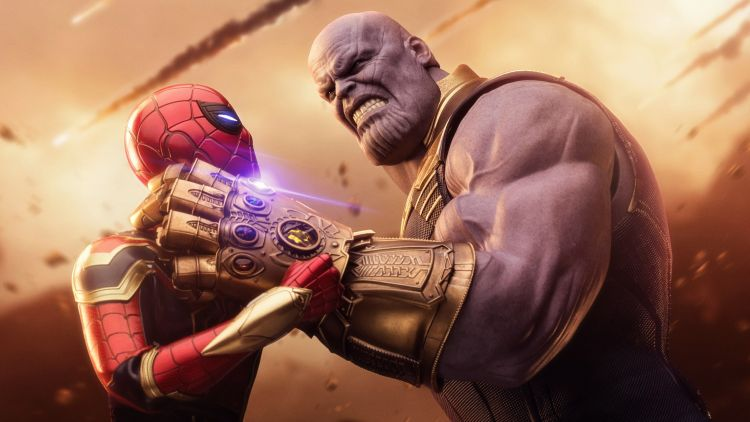 spider-man vs thanos