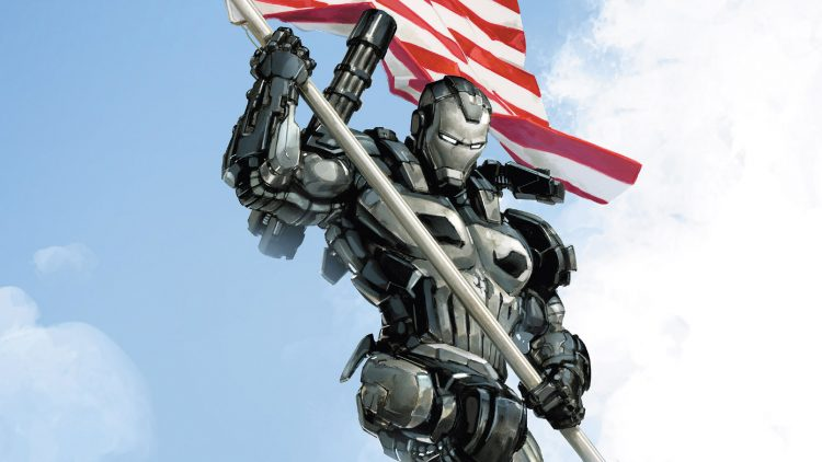 war machine punisher with flag pole