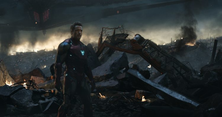 Iron man in a battlefield