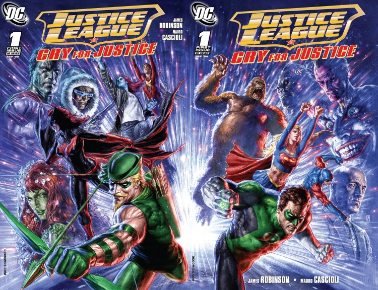 Justice League Dual Covers