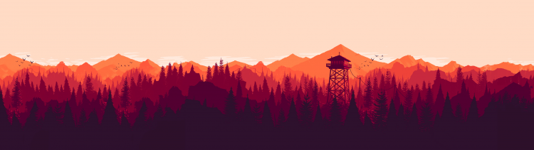 firewatch ultra double monitor wallpaper