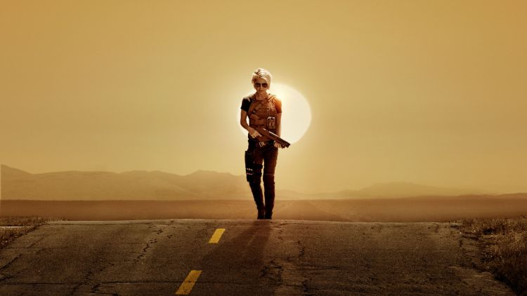 Terminator Dark Fate on the highway