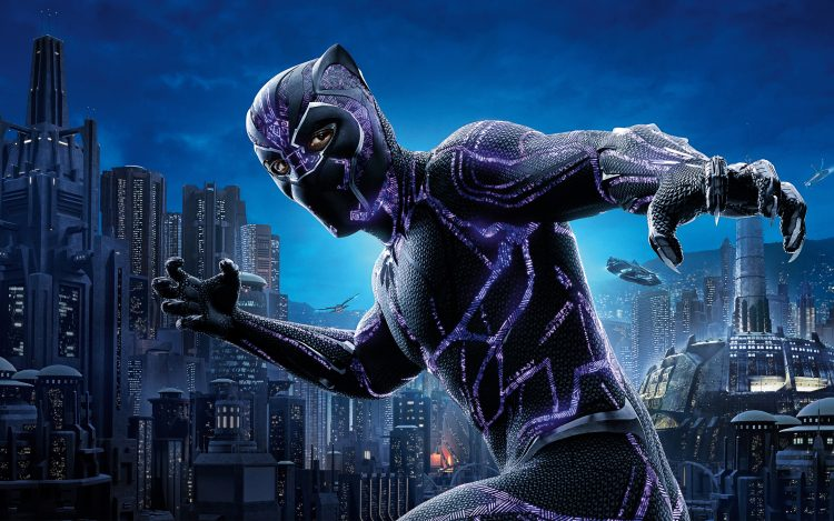 black panther in purple