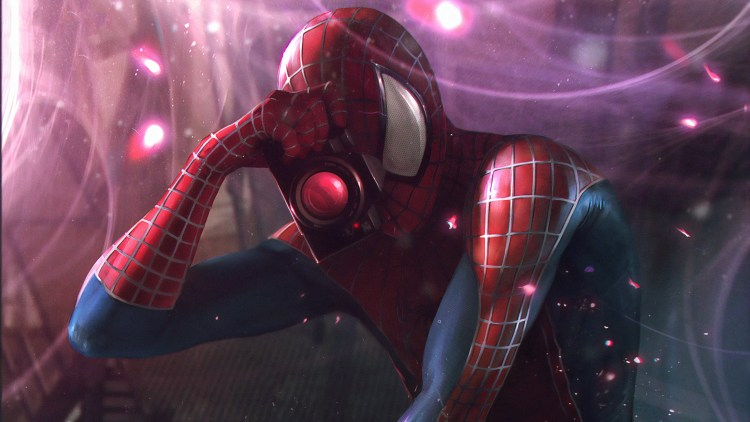 spider-man is also a professional photographer and would like to take your picture