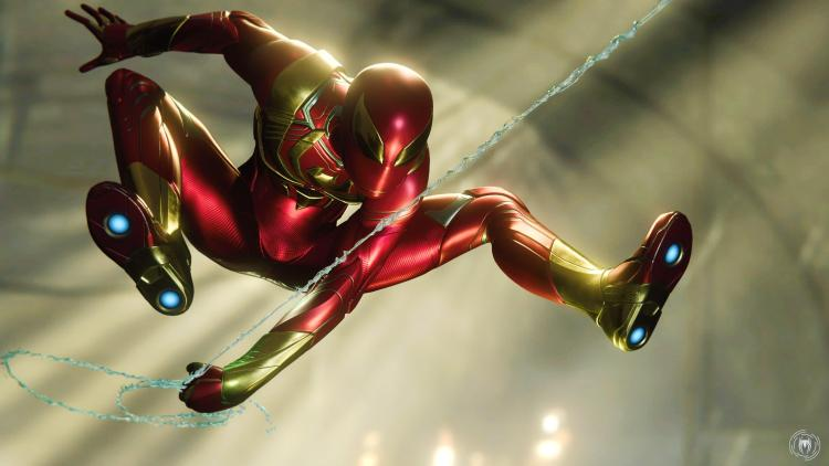 iron spider in flight