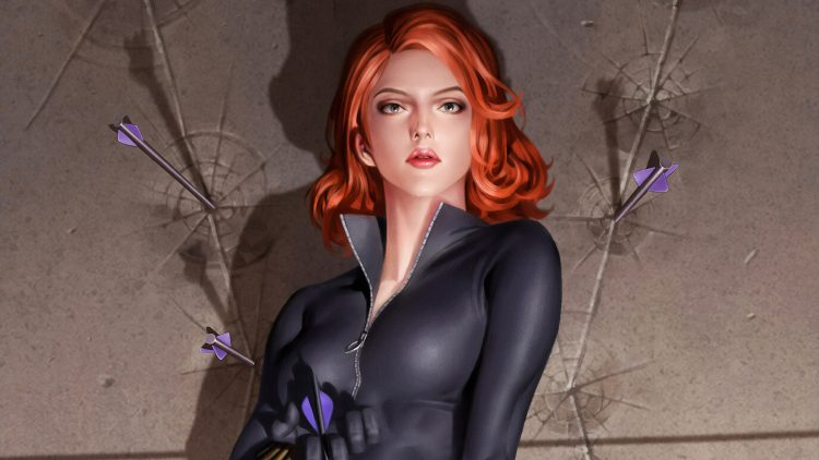 black widow with arrows