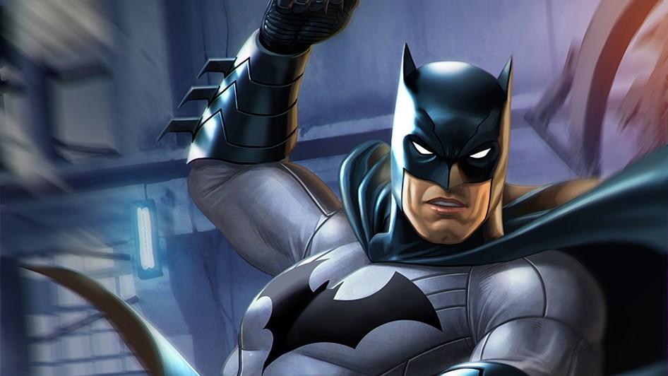 Batman mid swing
