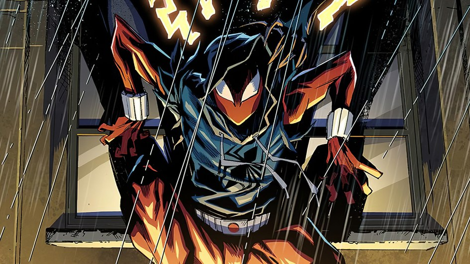 scarlet spider in he rain