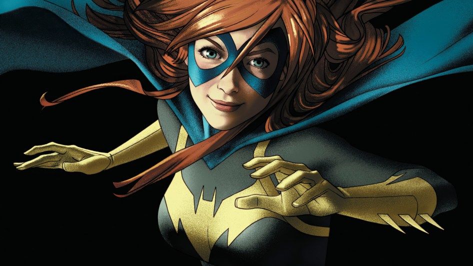 batgirl is grinning