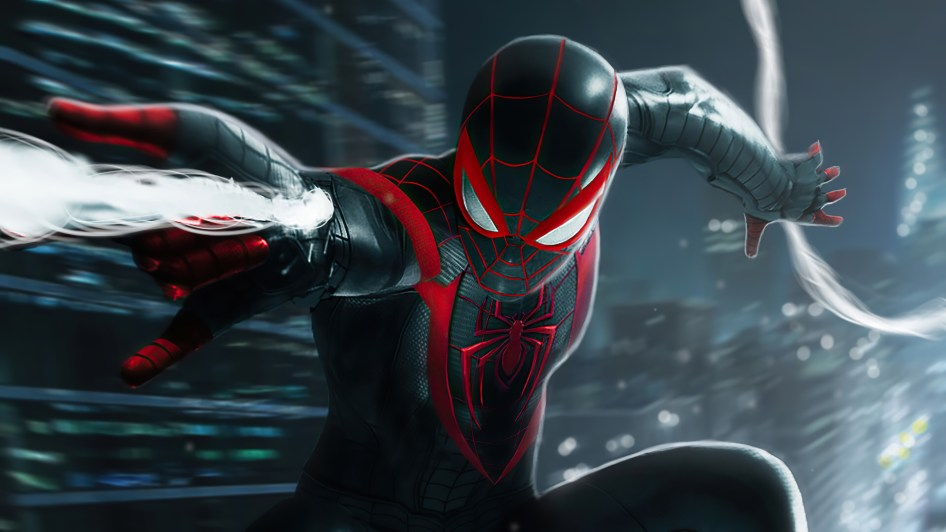 Spider-man in black and red