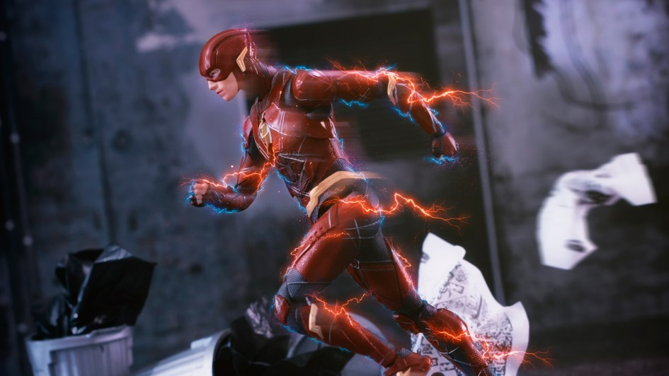 The flash is running