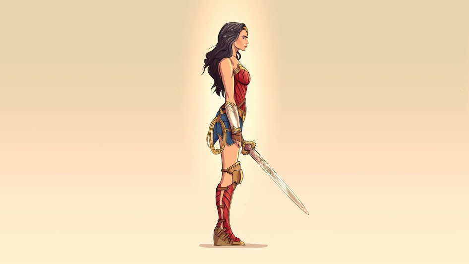 wonder woman with sword