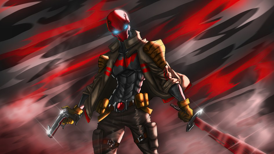 Red Hood with pistol