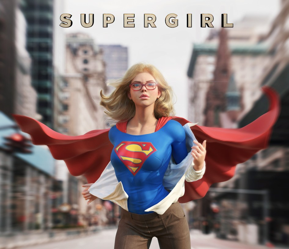 Supergirl in the Streets