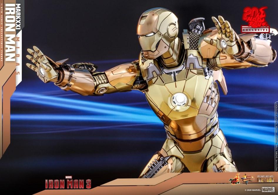 Iron Man 3 – Iron Man Mark XXI Midas Armor Figure by Hot Toys