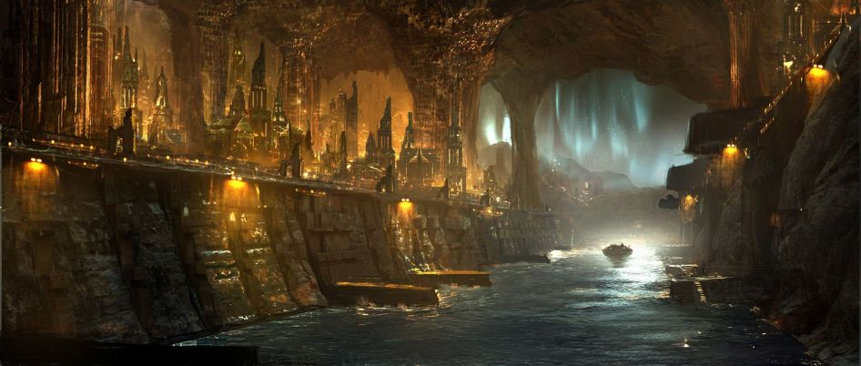 Concept artwork for Thor Ragnarok Valhalla Inside by Emmanuel Shiu