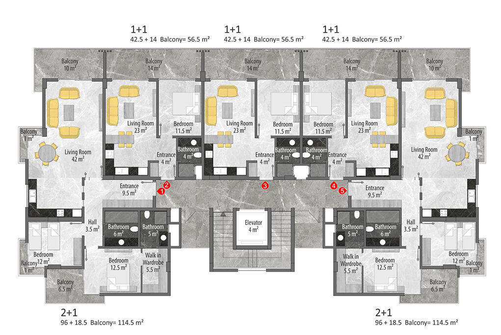 B block 1st and 2nd floor plan