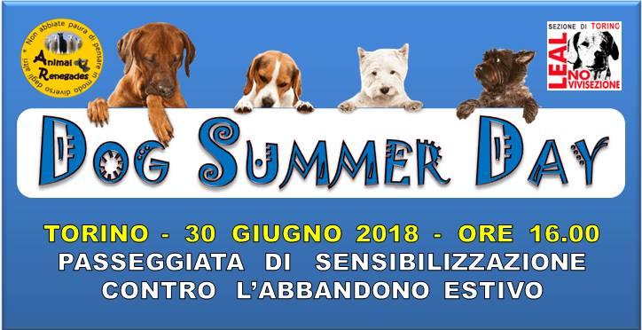 Dog Summer Day: il 30 giugno Torino dice NO all'abbandono estivo di animali